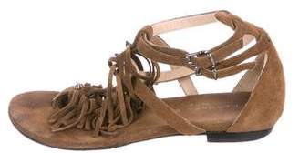 Barbara Bui Suede Studded Sandals