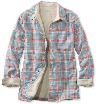 L.L. Bean L.L.Bean Women's Fleece-Lined Flannel Shirt