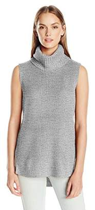 Calvin Klein Jeans Women's High Low Turtleneck Tunic Sweater $69.50 thestylecure.com