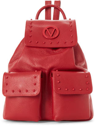 Mario Valentino Valentino By Lipstick Red Simeon Preciosa Studded Backpack