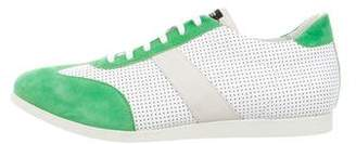 Kiton Perforated Leather Low-Top Sneakers