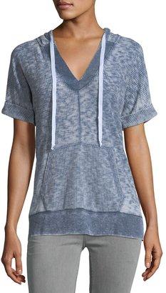 Allen Allen Short-Sleeve Waffle-Knit Top $75 thestylecure.com