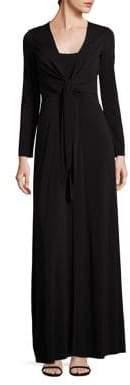 Alice + Olivia Salina Tie-Front Gown