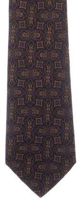Chanel Abstract Print Silk Tie