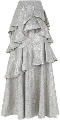 Alice + Olivia Flossie Paisley Gown Skirt