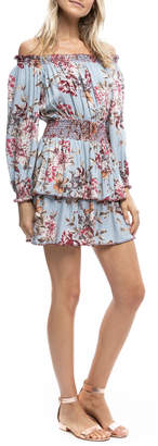 Anama Floral Smocked Waist & Neck Tiered Dress