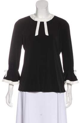 Karl Lagerfeld Bow-Accented Long Sleeve Top
