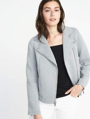 Old Navy Scuba-Knit Moto Jacket for Women