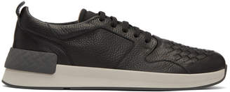 Bottega Veneta Black Intrecciato Grand Sneakers