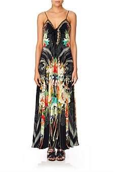 Camilla Queen Of Kings Long Dress W/ Tie Front