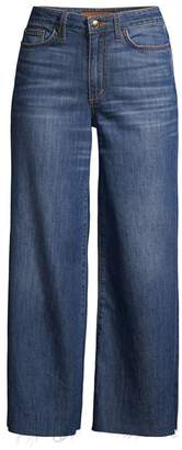 Joe's Jeans High-Rise Crop Wide-Leg Raw-Edge Jeans