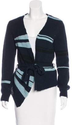 Dries Van Noten Wool Striped Cardigan