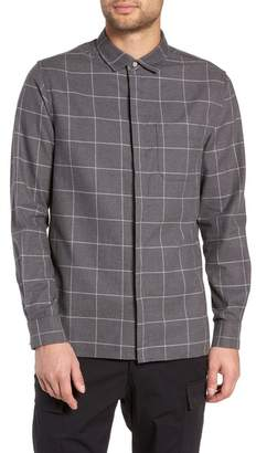 WINGS AND HORNS Windowpane Flannel Shirt