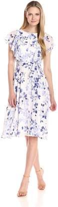 Jessica Howard JessicaHoward Women's Floral Ruffle Sleeve Dress