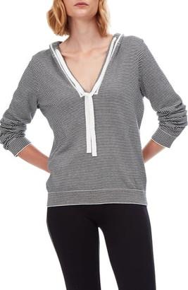 The White Company Stripe Cotton & Cashmere Hoodie