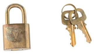 Louis Vuitton Brass Lock & Key Set