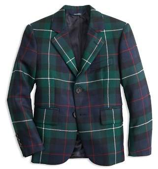 Brooks Brothers Boys' Plaid Holiday Suit Jacket - Big Kid
