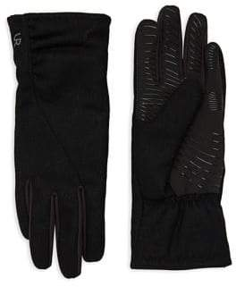 URBAN RESEARCH Powered Ruched Wool-Blend Faux Fur Tech Gloves