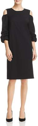 Lafayette 148 New York Willa Cold-Shoulder Shift Dress