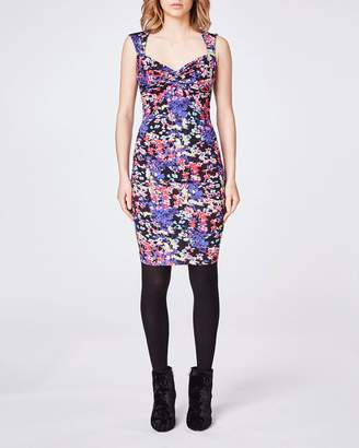 Nicole Miller Hanging Flowers Sweetheart Dress