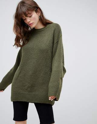 Cheap Monday oversized sweater with sleeve detail & recycled polyester