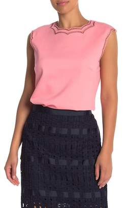 Ted Baker Tillia Ladder Stitch Trim Top