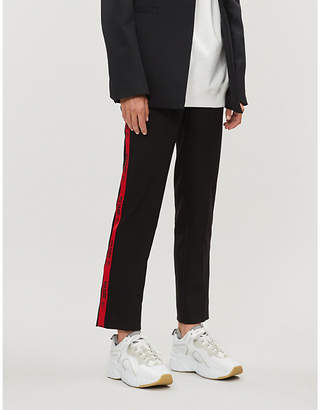 Zadig & Voltaire ZADIG&VOLTAIRE Pomelo branded-stripe cotton-blend tapered trousers