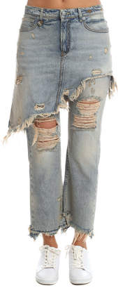 R 13 Double Classic Shredded Jean