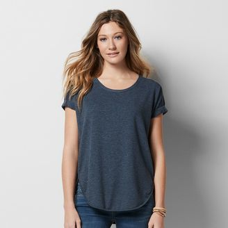 Women's SONOMA Goods for LifeTM Roll Cuff French Terry Tee $36 thestylecure.com