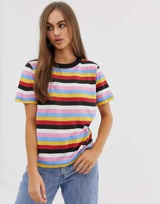 Daisy Street relaxed t-shirt in retro stripe