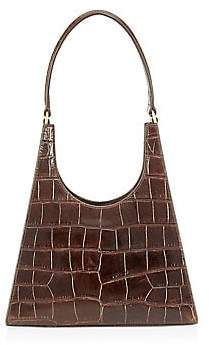 STAUD Women's Rey Crocodile-Embossed Leather Top Handle Bag
