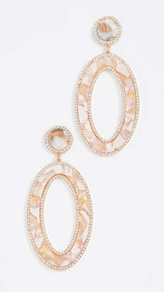 BaubleBar Encrusted Acrylics Oval Earrings