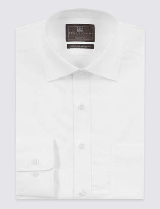 M&S CollectionMarks and Spencer Cotton Rich Twill Regular Fit Shirt
