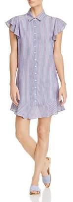 Aqua Flounce-Hem Striped Shirt Dress - 100% Exclusive