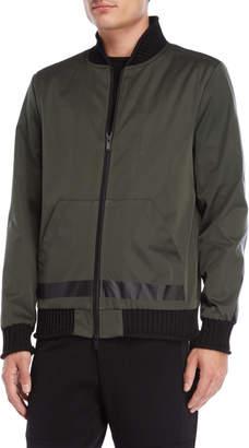Karl Lagerfeld Woven Bomber Jacket