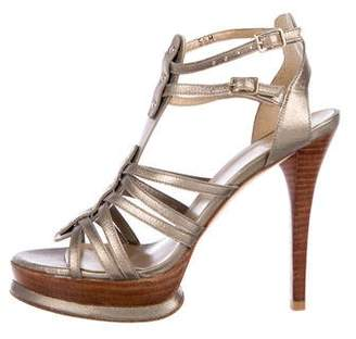 Stuart Weitzman Leather High Heel Sandals