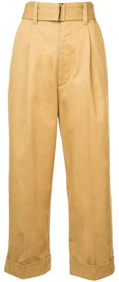 Marc Jacobs wide belt cropped trousers