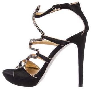 Rene Caovilla Embellished Caged Sandals