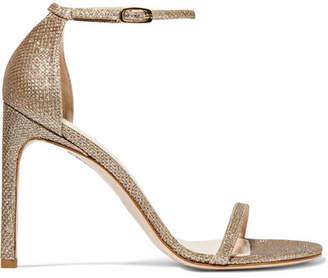 Stuart Weitzman Nudistsong Metallic Mesh Sandals - Matte gold