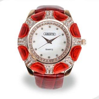 Abiste (アビステ) - (アビステ)ABISTE ラウンドフェイスベルト時計/レッド 9301012P/RD