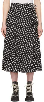 ALEXACHUNG Black and White Wrap Skirt