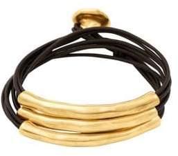 Uno de 50 O No Tubi Beaded Leather Bracelet