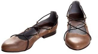 BA&SH Bottega Bash Brown Leather Loafers