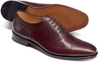 Charles Tyrwhitt Burgundy Goodyear Welted Oxford Brogue Shoes Size 11.5