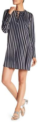 Diane von Furstenberg Long Sleeve Key Hole Dress