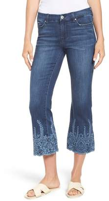Liverpool Jeans Company LVPL by Liverpool Coco Embroidered Hem Crop Jeans