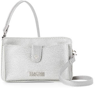 Kenneth Cole Reaction Silver Quarter Alpine Mid Crossbody