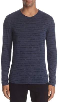 John Varvatos Collection Striped Long Sleeve Crewneck Sweater