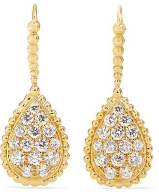 Boucheron Serpent Bohème 18-karat Gold Diamond Earrings