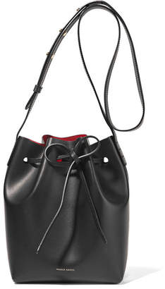 Mansur Gavriel Mini Leather Bucket Bag - Black